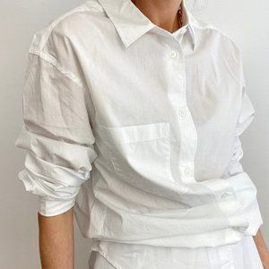 Vintage Classic Crispy White Button Up Shirt